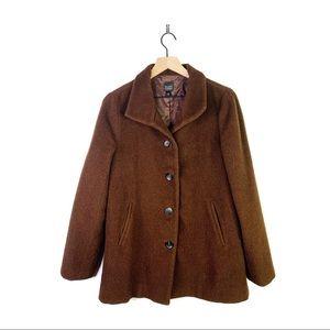 Eileen Fisher Baby Alpaca Wool Button Pea Coat XS